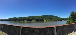 Looking over the Allegheny from the Redbank Bridge